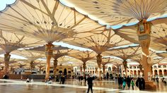 The best umbrella in the world  Al-Nabawi, Medina.