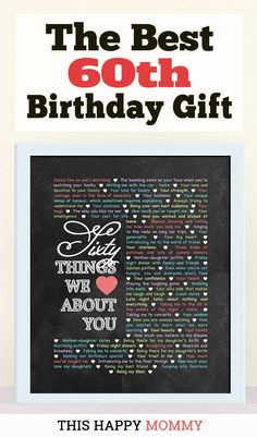 60 Things We Love About You My Mom Loves This Gift It