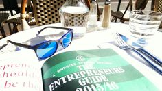 Lunch over #monocle #EntrepreneurGuide with our @etniabarcelona eyewear (this model will be soon on #JardinsFlorian) Always learning... Particularly from fellow entrepreneurs  #tylerbrulee #monoclemagazine #Entrepreneur #entrepreneurship #startup #busines