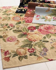 Waterfall Rose Rug from Horchow