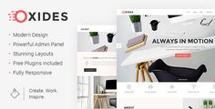 Oxides - A Creative Studio Theme for Entrepreneurs by Edge-Themes  Theme Features Easy-to-Use Powerful Admin Interface One-click import of demo site Loads of home and inner pages Large collection