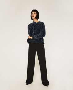Image 1 of CROPPED ROUND NECK SWEATER from Zara