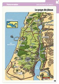 Carte de la Palestine, mots fléchés sur le pays de Jésus, temps fort sur le pays…