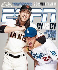 Tim Lincecum and Clayton Kershaw (ESPN Magazine)