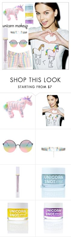 """Unicorn Makeup"" by yours-styling-best-friend ❤ liked on Polyvore featuring beauty, Current Mood, David & Goliath, ASOS, Winky Lux and FCTRY"