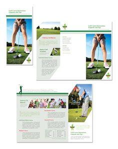 Golf Tournament Tri Fold Brochure Template Design Branding Ideas - Golf brochure template