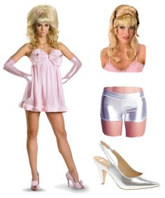 Flattering Halloween Costumes for apple body shape : Austin Powers Fembots - So this A Line Costume is soft fur at the bust complete with nozzles! If you are a busty apple however, we would suggest you to skip this. The dress is very forgiving to your shape inside and only shows off your beautiful legs. Don't forget to wear a bee-hive blonde wig as well as silver shorts inside, just in case!
