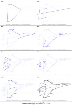 How to Draw Sukhoi step by step printable drawing sheet to print. Learn How to Draw Sukhoi