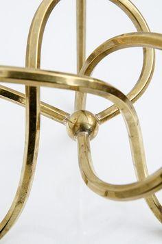 Josef Frank knot candlestick in brass by Svenskt Tenn at Studio Schalling #candlestick #brass #midcenturymodern