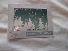 shaker card White Christmas, Christmas Cards, Shaker Cards, Homemade Cards, Xmas Cards, Diy Cards, Christmas Greetings, Christmas Letters, Stamped Christmas Cards
