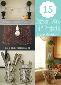 Chicken Wire Round Up Projects & Ideas #DIY