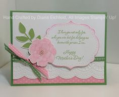 Stampin' Fun with Diana: Wonderful Mother: Paper Player's Challenge