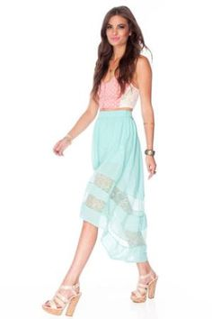 Space for Lace Skirt in Nude :: tobi