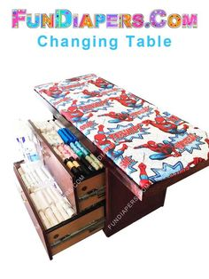 Spiderman Adult Diaper Changing Table