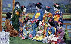 Geiko and Maiko Girls 1920