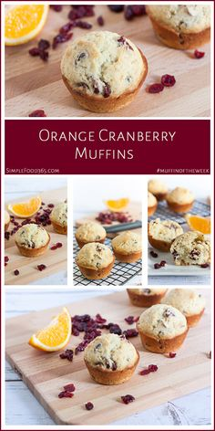 These orange cranberry muffins are a great way to head into fall. We made them our #muffinoftheweek in honor of Mom, who loved them. Give the recipe a try and let us know what you think of them!   SimpleFood365.com