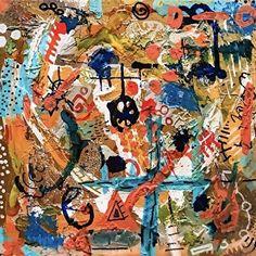 #puertoricocrisis by Lisa McKinney Kreymborg Mixed Media ~ 8 x 8 abstract art, modern art, contemporary art, political art