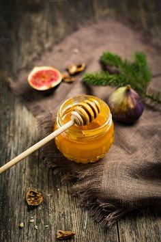 Jar of honey by The baking man on Creative Market