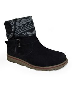 Take a look at this Black Jess Short Cuff Boot - Women on zulily today!
