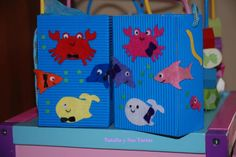 Bolsas de chuches del fondo del mar, más detalles de la fiesta en http://nataliaysustartas.wordpress.com/cumpleanos/fiesta-fondo-del-mar-idecoracion/