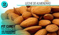 Top 15 – Recetas de Dulces por Sascha Barboza | heyhec Healthy Deserts, Healthy Treats, Healthy Recipes, Healthy Food, Comidas Fitness, Almond, Clean Eating, Good Food, Health Fitness