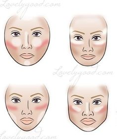 Secrets to contouring and highlighting based on your face shape - so useful!