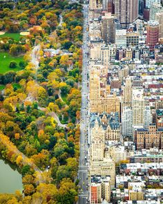 """""""Incredible Contrast Between Two Worlds. The City vs Central Park. #newyork Photography taken by ©kathleen Dolmatch(no ig) _ Also check out our new art…"""""""