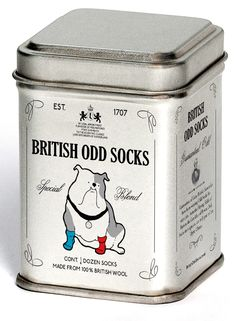 Package design for British Odd Socks