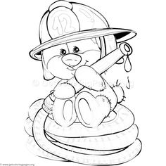 Free download 1 Teddy Bear Firefighter Coloring Pages #coloring #coloringbook #coloringpages #teddybear