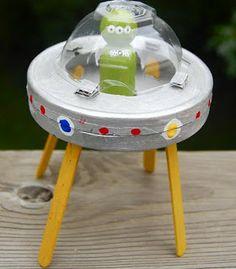 disco voador caixa de ovo