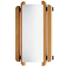 Beech wood wall sconce with a translucent shade.  Product: Wall sconceConstruction Material: Beech wood and glassColor: Natural and whiteFeatures:  Suitable for damp locationsADA compliant Accommodates:  (1) 60 Watt A-19 incandescent bulb - not includedDimensions: 12.75 H x 7.5 W x 7.5 D