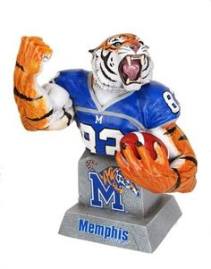 """CS Moore Studios MX Collectibles College Football Memphis Tigers Team Mascot Bust by CS Moore Studios. $54.99. Nearly 6"""" tall. Officially licensed. Captures the spirit of your favorite team. Sculpted by master collectibles sculptor Clayburn Moore. Cold-cast porcelain. From the Manufacturer                College football fans can capture the spirit, excitement, and fierce determination of their favorite team with MX Collectibles' new line of dynamic, officially-licens..."""