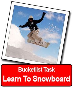Bucketlist Idea: Learn to snowboard! I tried two weeks ago. Look at the bruises on my legs and bum... lol. I WILL retry it though!