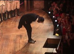 Lin-Manuel Miranda's final bow. July 9, 2016. I cry. This crowd must've gone crazy wild at this point. I'm so sad I'll never see him as Ham