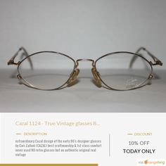 Today Only! 10% OFF this item. Follow us on Pinterest to be the first to see our exciting Daily Deals. Today's Product: Cazal 1124 - True Vintage glasses 80 - 70's - NEW unworn Authentic Buy now: https://orangetwig.com/shops/AAA0zeW/campaigns/AACUMMo?cb=2016003&sn=RayBanVintageShop&ch=pin&crid=AACUMMB&exid=268578560&utm_source=Pinterest&utm_medium=Orangetwig_Ma..