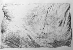 'Pillow' pencil drawing by Tanya Wood