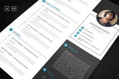 Resume / Cv Word Template by abdenacer.btk on Resume Action Words, Resume Words Skills, Resume Writing Tips, Resume Tips, Resume Cv, Executive Resume Template, College Resume Template, Simple Resume Template, Resume Templates