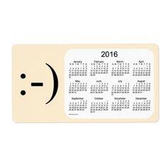 2016 Papaya Whip Calendar by Janz Label Shipping Label