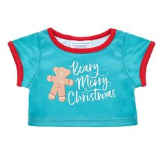 Have a Beary Merry Christmas and dress your furry friend in this festive T-shirt for stuffed animals. Shop clothes and accessories for the holiday at Build-A-Bear! Christmas Gift Sets, Merry Christmas, Red Tutu, Bunny Plush, Blue Gift, Build A Bear, Party Stores, Stuffed Animals, Workshop
