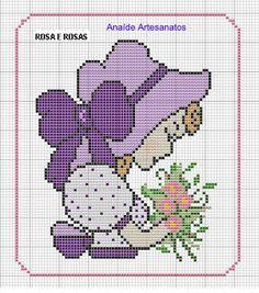 Anaide Ponto Cruz: Gráficos de quadro infantil em ponto cruz.