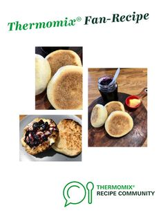 Recipe English muffins, Cheesy or plain by thermifyme, learn to make this recipe easily in your kitchen machine and discover other Thermomix recipes in Breads & rolls. English Muffin Recipes, English Muffins, Vegetarian Breakfast, Breakfast Recipes, Bread Improver, Thermomix Bread, Crumpets, Cereal Recipes
