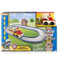 Amazon.com: Paw Patrol - Rocky's Barn Rescue Track Set: Toys & Games