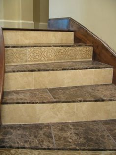 Tiled Stairs I Would Love My Stairs To Look Like This