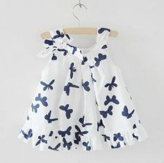 Girl Drees Butterfly Printing Summer Baby Dress High Quality Brand Causal Children Tank Dress Clothing Kids Clothes 5pcs/LOT