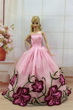 Pink Fashion Princess Party Dress Evening Clothes Gown for Barbie Doll S230 | eBay