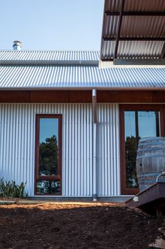 The Solar Passive House in Stoneville Passive Solar Homes, Passive House, House Cladding, Exterior Cladding, Tin House, Cottage House, House Floor, Tin Shed, House Ideas