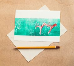 Christmas Greeting Cards Postcards Set of by RainTreePrintmaking