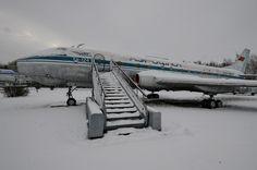 Самолет Ту-124 в Мзуее авиации в Ульяновске