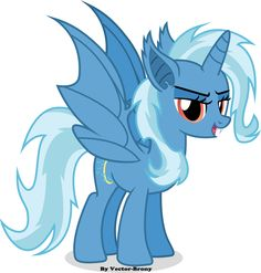 Trixie-Bat by Vector-Brony on DeviantArt My Little Pony List, My Little Pony Pictures, My Little Pony Friendship, Minion Baby, My Little Pony Drawing, Mickey Mouse Cartoon, Mlp Fan Art, Little Poney, Mlp Pony