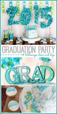 graduation party tablescape ideas by wizza